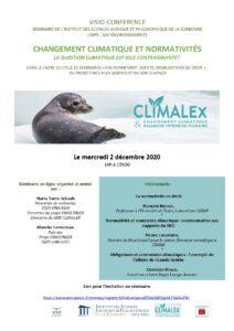 Séminaire du GDR CLIMALEX